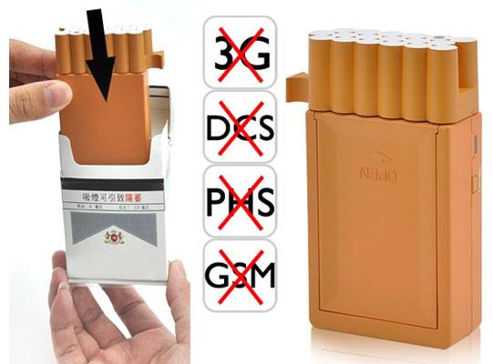 brouilleur paquet de cigarette de telephone portable de signal gsm gps 3g. Black Bedroom Furniture Sets. Home Design Ideas