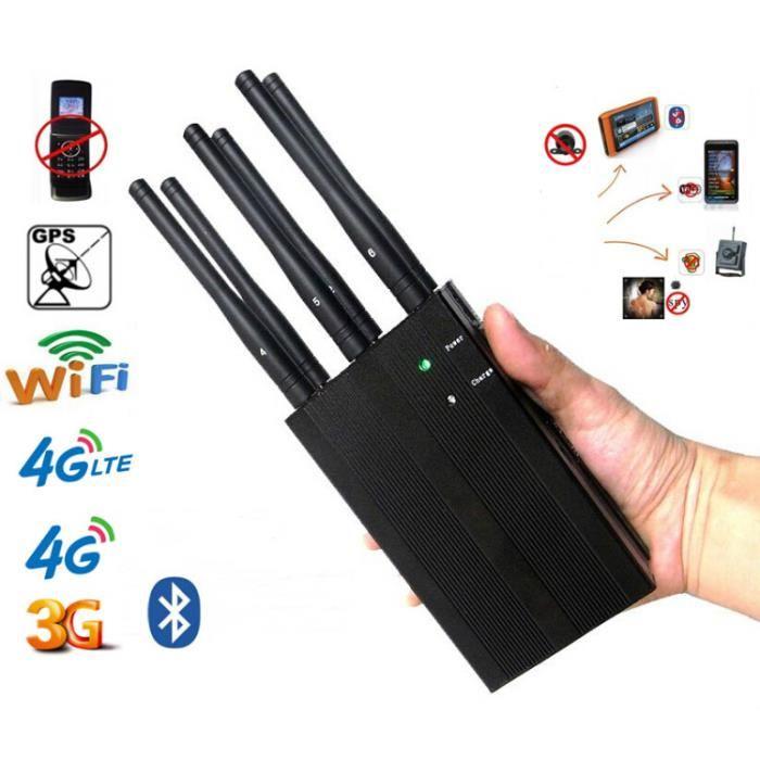 Téléphone portable et brouilleur GPS largement utilisé