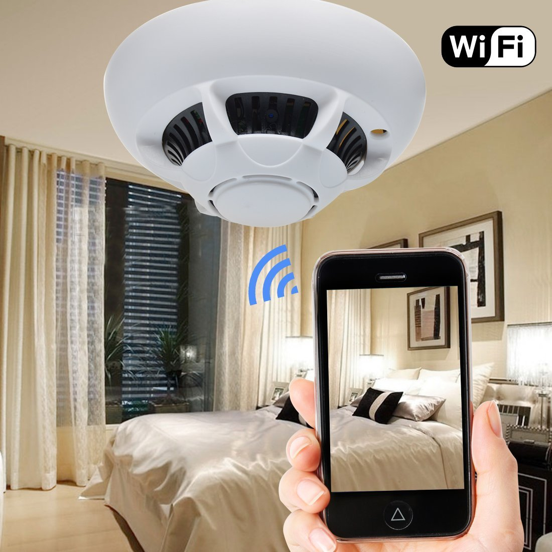 cam ra ufo wifi autonome cam ra wifi hd blanc. Black Bedroom Furniture Sets. Home Design Ideas