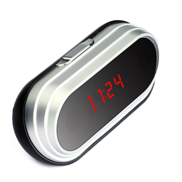 alarm clock portable cam ra espion de surveillance sans fil avec recepteur. Black Bedroom Furniture Sets. Home Design Ideas