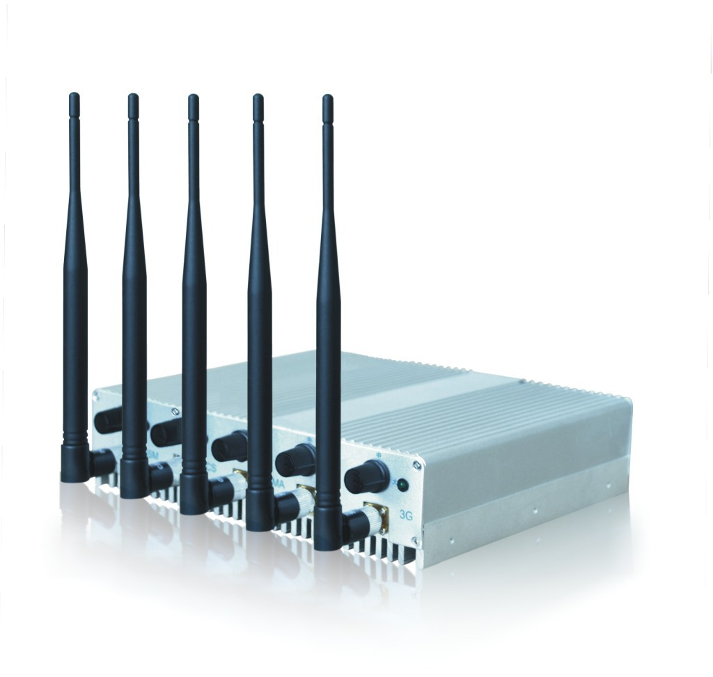 Desktop cell phone - 5 Band 3G Mobile Phone Signal Jammer - Portable Jammer