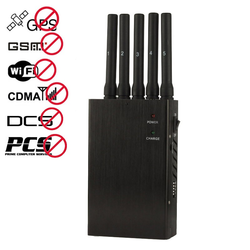 signal jammer camera for sale - Five Band high-performance Portable Cell Phone GPS Jammers