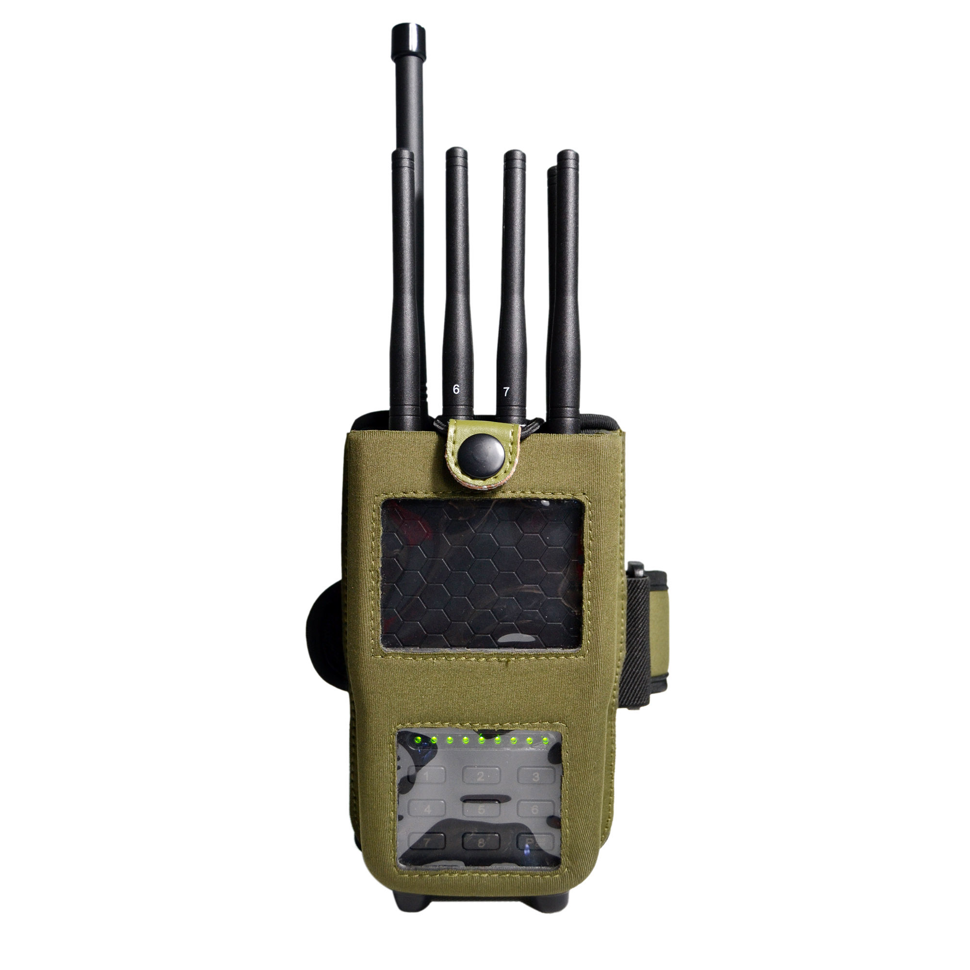 Jammer of the world | China High Power Handheld 3G / 4G Legal Cell Phone Jammer for Infantry Troop - China Cell Phone Signal Jammer, Cell Phone Jammer