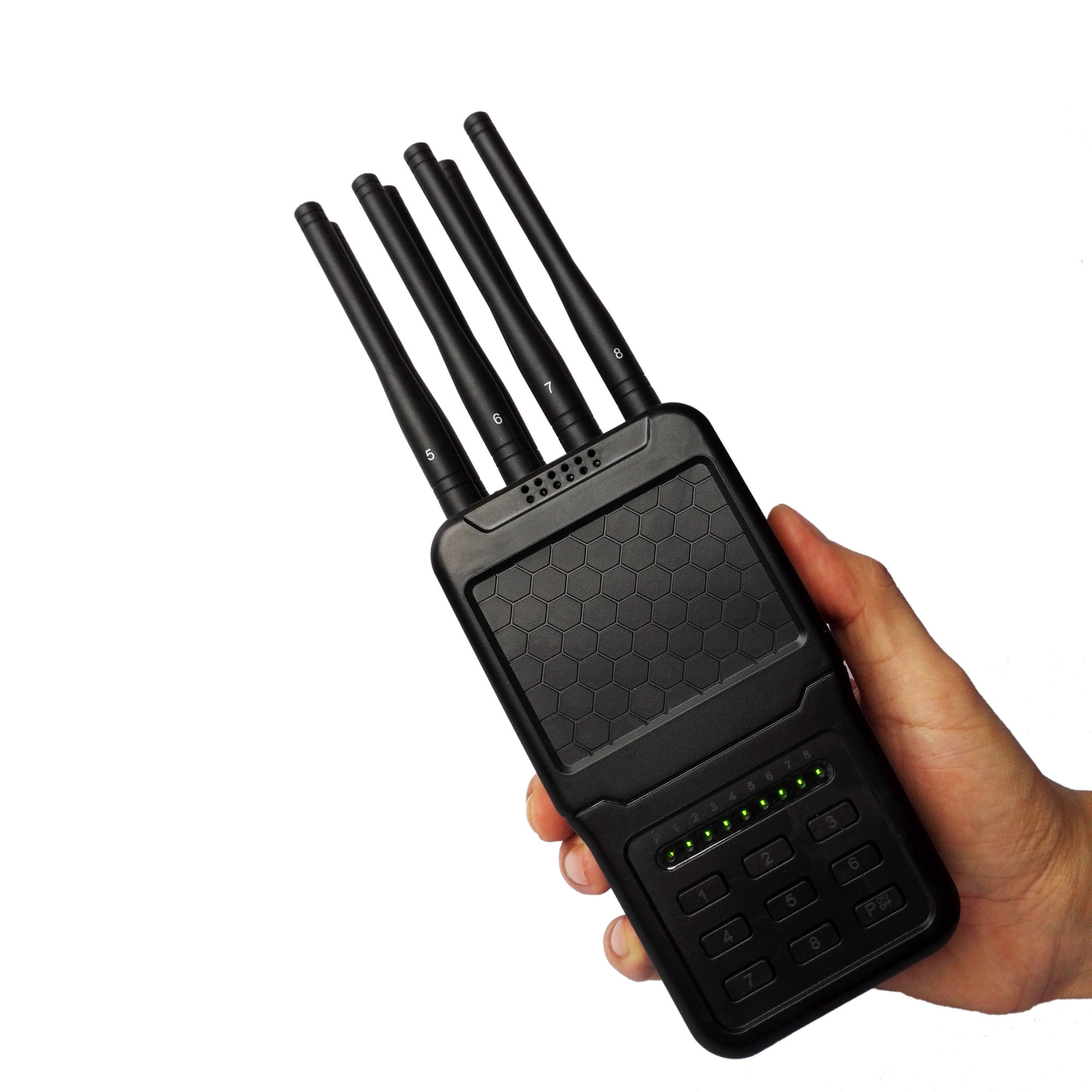 Cell phone jammer KY - 8 frequency cell phone jammer portable