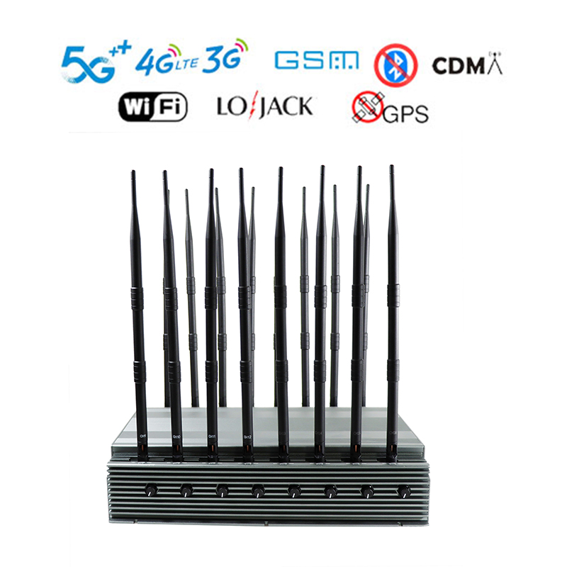 Adjustable 16-Band Mobile Phone 5G Jammer